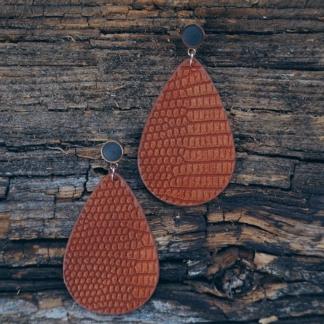 Beton-Ohrhänger orange