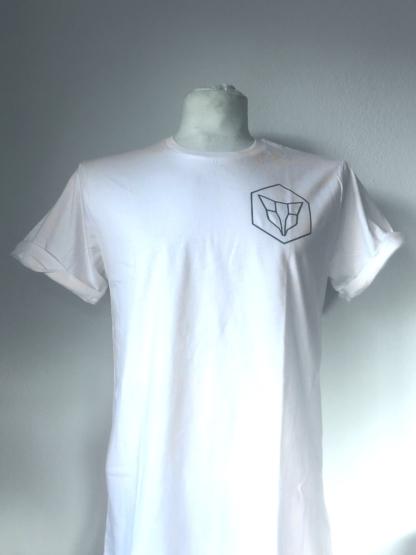 T-Shirt Fuchs Lowpoly Weiß