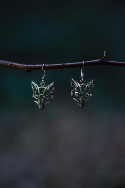 Fuchs-Ohrringe Bronze