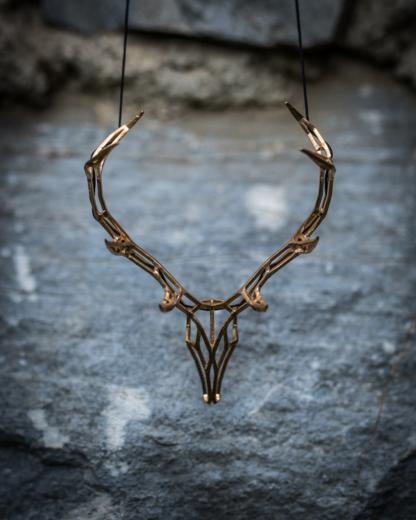 Hirschkette Bronze