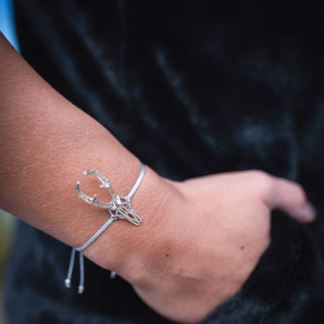 Rehbock-Armband Silber