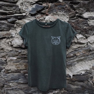 T-Shirt Eule grün