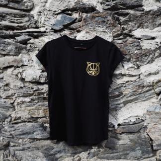 T-Shirt Eule schwarz