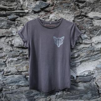 T-Shirt Fuchs grau