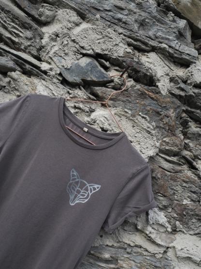 T-Shirt Fuchs grau detail