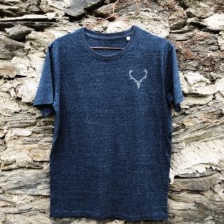 T-Shirt Hirsch dunkelblau