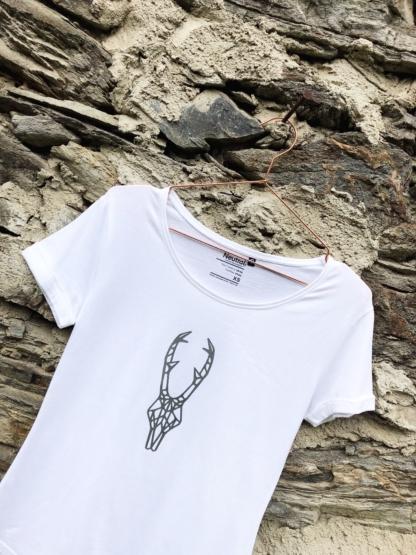 T-Shirt Rehbock weiss